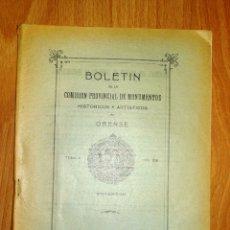 Coleccionismo de Revistas y Periódicos: BOLETÍN DE LA COMISIÓN DE MONUMENTOS HISTÓRICOS Y ARTÍSTICOS DE ORENSE. TOMO X, 1934, Nº 216. Lote 164521766