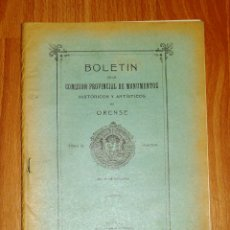 Coleccionismo de Revistas y Periódicos: BOLETÍN DE LA COMISIÓN DE MONUMENTOS HISTÓRICOS Y ARTÍSTICOS DE ORENSE. TOMO XI, 1938, Nº 241. Lote 164526138