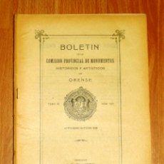 Coleccionismo de Revistas y Periódicos: BOLETÍN DE LA COMISIÓN DE MONUMENTOS HISTÓRICOS Y ARTÍSTICOS DE ORENSE. TOMO XI, 1938, Nº 242. Lote 164526206