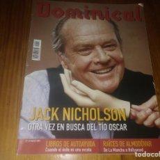 Coleccionismo de Revistas y Periódicos: REVISTA DOMINICAL N° 27 AÑO 2003 JACK NICHOLSON ROY MAKAAY ALMODOVAR . Lote 164634054