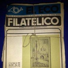 Coleccionismo de Revistas y Periódicos: EL ECO FILATELICO Y NUMISMATICO AÑO 1968 DISPONEMOS DE TODOS LOS AÑOS . Lote 164644706