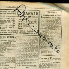 Coleccionismo de Revistas y Periódicos: DIA GRAFICO GUERRA CIVIL 1936 RCD ESPAÑOL FUTBOL GRANOLLERS ALEMANES EN CADIZ VILLAFRANCA LLARKUNDIA. Lote 164773126
