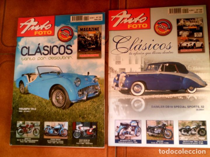 LOTE DE REVISTAS AUTO FOTO N,152,Y 140 DE 2009 Y 2008 (Coleccionismo - Revistas y Periódicos Modernos (a partir de 1.940) - Otros)