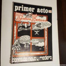 Coleccionismo de Revistas y Periódicos: PRIMER ACTO N° 153 TEATRO FURIOSO OBRAS DE NIEVA Y MELERO. Lote 164986765