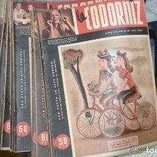 Coleccionismo de Revistas y Periódicos: COLECCIÓN DE 113 NÚMEROS DE LA CODORNIZ DEL 1 AL 113 (DESDE 1941). BUEN ESTADO. Lote 165047726