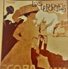 Coleccionismo de Revistas y Periódicos: LOS DEPORTES COPA CATALUNYA 1909 NUMERO EXTRAORDINARIO CARRERA INTERNACIONAL DE COCHES MONOGRAFICO. Lote 165192742