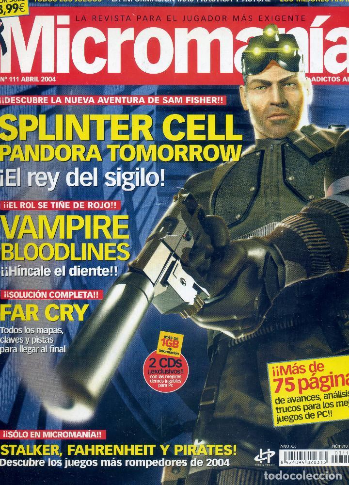 REVISTA MICROMANIA Nº111 ABRIL 2004 (Coleccionismo - Revistas y Periódicos Modernos (a partir de 1.940) - Otros)