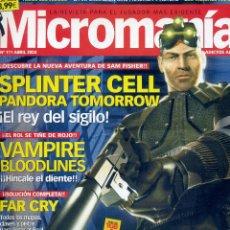 Coleccionismo de Revistas y Periódicos: REVISTA MICROMANIA Nº111 ABRIL 2004. Lote 165209222