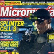 Coleccionismo de Revistas y Periódicos: REVISTA MICROMANIA Nº123 ABRIL 2005. Lote 165211074