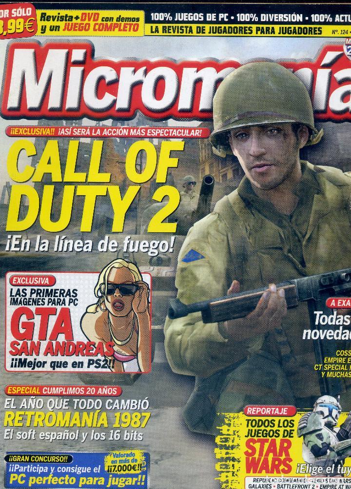 REVISTA MICROMANIA Nº124 MAYO 2005 (Coleccionismo - Revistas y Periódicos Modernos (a partir de 1.940) - Otros)