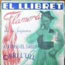 Coleccionismo de Revistas y Periódicos: HOGUERAS DE SAN JUAN DE ALICANTE, 1948. EL LLIBRET, FLAMERÁ DE LA FOGUERA DE ALFONSO EL SABIO ¡OBRI . Lote 165272098