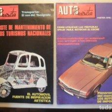 Coleccionismo de Revistas y Periódicos: LOTE DE DOS REVISTAS AUTO REVISTA AÑOS 70. Lote 165281594