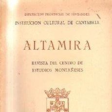 Coleccionismo de Revistas y Periódicos: ALTAMIRA.REVISTA DEL CENTRO DE ESTUDIOS MONTAÑESES. VOLUMEN 2. 1971.A-LCANT-054. Lote 165319582