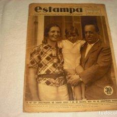 Coleccionismo de Revistas y Periódicos: ESTAMPA Nº 344. AGOSTO 1934. EN PORTADA EL GENERAL SANJURJO CON SU FAMILIA.. Lote 165320758