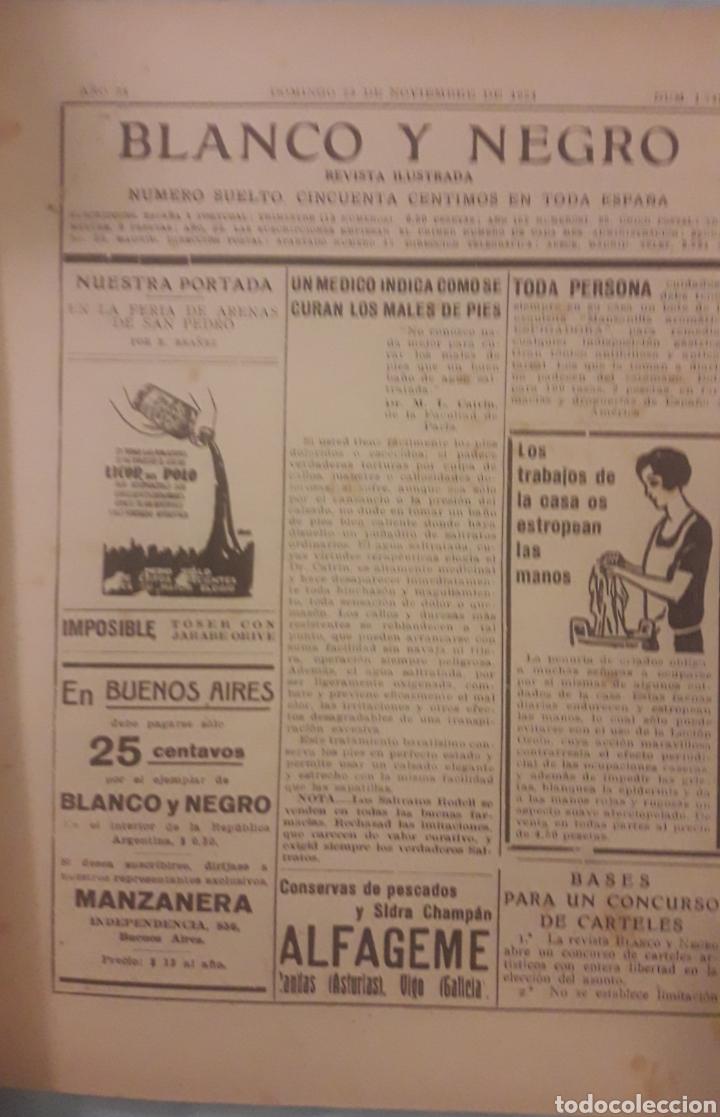 Coleccionismo de Revistas y Periódicos: Revista blanco y negro 1924 - Foto 2 - 165441053