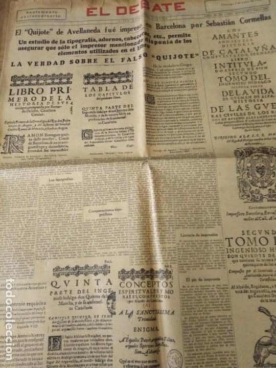 EL DEBATE 1936 SUPLEMENTO EXTRAORDINARIO 3 MAYO ESPECIAL EL QUIJOTE .... (Coleccionismo - Revistas y Periódicos Antiguos (hasta 1.939))