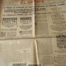 Coleccionismo de Revistas y Periódicos: EL DEBATE 1936 SUPLEMENTO EXTRAORDINARIO 3 MAYO ESPECIAL EL QUIJOTE ..... Lote 165518950