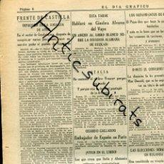 Coleccionismo de Revistas y Periódicos: DAI GRAFICO GUERRA CIVIL 1937 ESPIGARES MUNGUIA ORDUÑA BOMBARDEO DE REUS VIC CARDONA VILLAHARTA. Lote 165592606