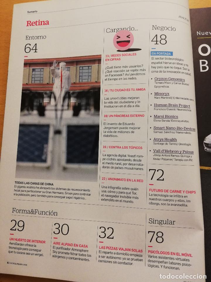 Coleccionismo de Revistas y Periódicos: REVISTA RETINA Nº 4 (ABRIL 2018) EL HERVIDERO DE IDEAS DE LA BIOTECNOLOGÍA ESPAÑOLA - Foto 3 - 165634502