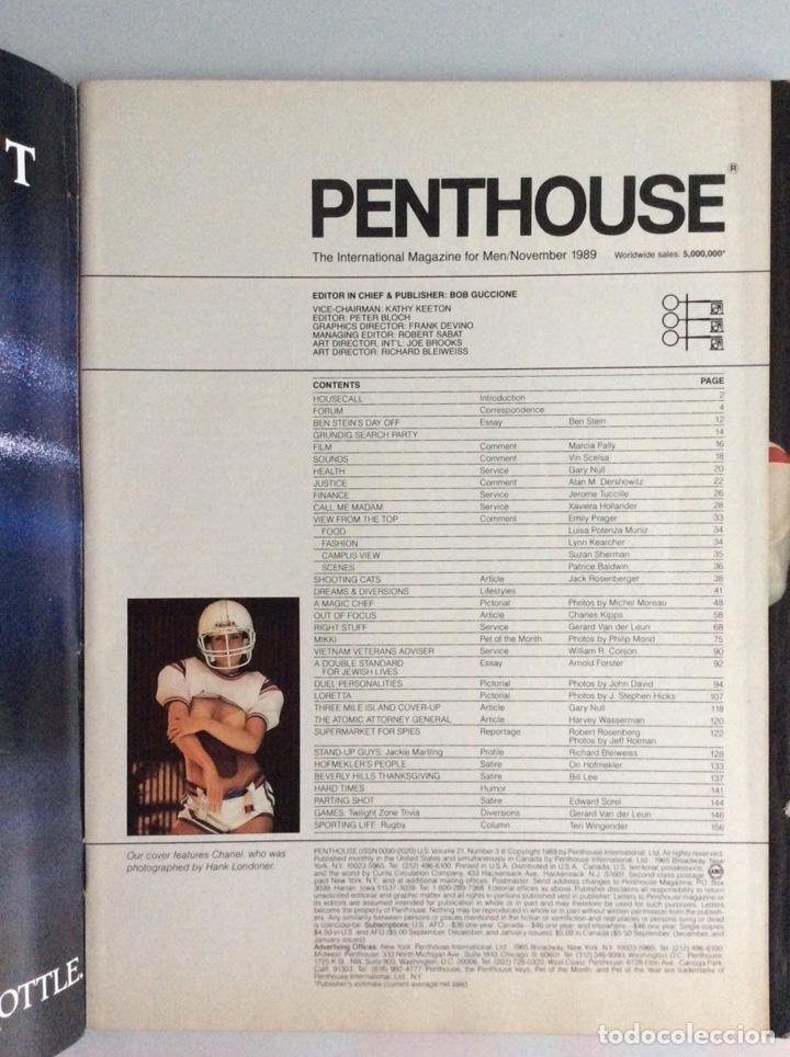 PENTHOUSE NOVEMBER 1989 ( EDICION EN INGLES ) (Coleccionismo - Revistas y Periódicos Modernos (a partir de 1.940) - Otros)
