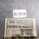 Coleccionismo de Revistas y Periódicos: SBJ PERIÓDICO NORTE EXPRES VITORIA 20 NOV 1975 MUERTO GENERALÍSIMO FRANCO INEDITO EN TC. Lote 165744032