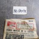 Coleccionismo de Revistas y Periódicos: SBJ PERIÓDICO EL CORREO ESPAÑOL PUEBLO VASCO 23 NOV 1975 MUERTO GENERALÍSIMO FRANCO INEDITO EN TC. Lote 165744356