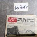 Coleccionismo de Revistas y Periódicos: SBJ PERIÓDICO EL CORREO ESPAÑOL PUEBLO VASCO 21 NOV 1975 MUERTE GENERALÍSIMO FRANCO INEDITO EN TC. Lote 165744601