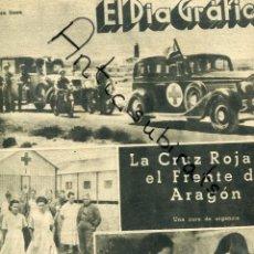 Coleccionismo de Revistas y Periódicos: DIA GRAFICO GUERRA CIVIL 23-6-1937 AMBULANCIA CRUZ ROJA EN ARAGON DETENCION DE ANDRES NIN POUM . Lote 165752390
