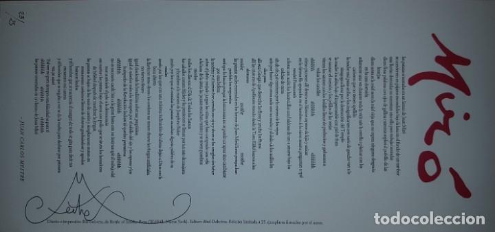 Coleccionismo de Revistas y Periódicos: Tropelías (tapa dura, 2015), con pliego Miró numerado y firmado por Juan Carlos Mestre (23/25) - Foto 5 - 165772872