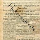 Coleccionismo de Revistas y Periódicos: DIA GRAFICO GUERRA CIVIL 1938 COMBATES EN TERUEL A 15 GRADOS BAJO CERO FRIO . Lote 165804626