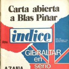 Coleccionismo de Revistas y Periódicos: ÍNDICE. 1973. CARTA ABIERTA A BLAS PIÑAR.. Lote 165809990
