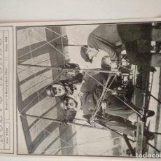 Coleccionismo de Revistas y Periódicos: HOJA REVISTA ORIGINAL 1910. DE PARIS A BRUSELAS EN AEROPLANO, AVIADOR MAHIEU. Lote 165945034