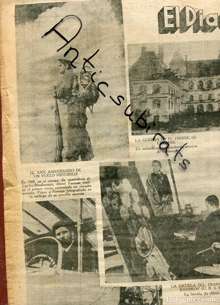 DIA GRAFICO 19-1-1938 GUERRA CIVIL RAQUETAS DE NIEVE BATALLON ALPINO BOMBARDEO CASTELLON SAGUNTO segunda mano