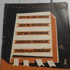 Coleccionismo de Revistas y Periódicos - LEYES FUNDAMENTALES DEL REINO. TEMAS ESPAÑOLES. Nº 60. PUBLICACIONES ESPAÑOLAS, 1953. - 166002754
