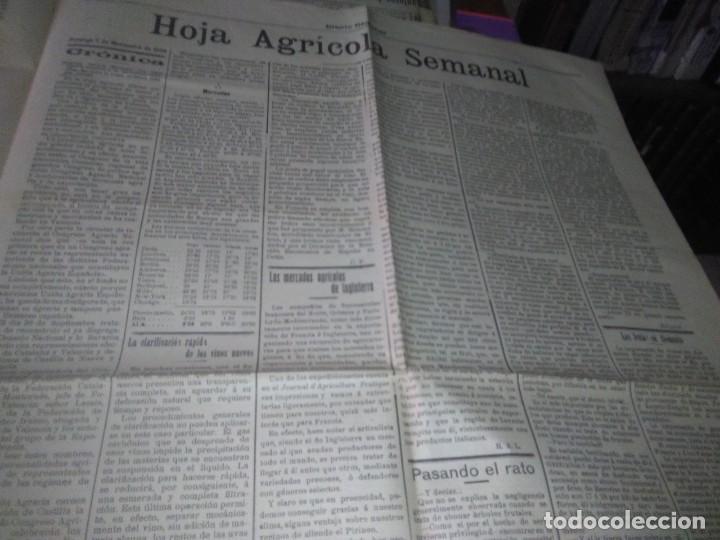 Coleccionismo de Revistas y Periódicos: DIARIO VALLADOLID 1909 LOS ALCADES DE REAL ORDEN DIPUTANCION PROVINCAL CONSEJO DE GUERRA VICENTE AMB - Foto 5 - 166018534