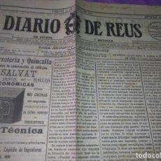 Coleccionismo de Revistas y Periódicos: DIARIO DE REUS VIERNES 13 DE AGOSTO DE 1915 NUM 175 LA RESIDENCIA DE ESTUDIANTES . Lote 166030014