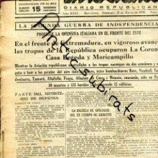 Coleccionismo de Revistas y Periódicos: DIA GRAFICO GUERRA CIVIL 1938 BOBARDEO DE FRAGA MONZON ALBALATE DE CINCA ALTARULLA TORREDEMBARRA . Lote 166261066