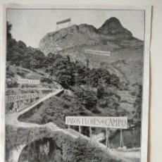 Coleccionismo de Revistas y Periódicos: HOJA REVISTA ORIGINAL 1926.PAISAJE ESPAÑA FLORES DEL CAMPO. Lote 166286562
