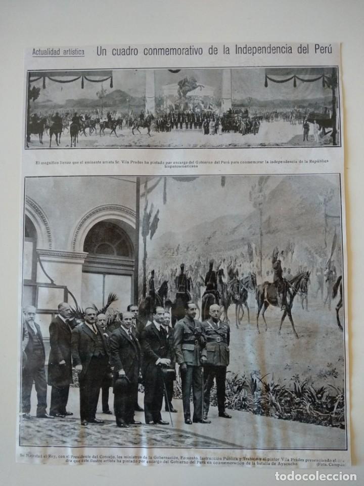 HOJA REVISTA ORIGINAL 1926. CUADRO CONMEMORATIVO DE LA INDEPENDENCIA DE PERU, VILA PRADES (Coleccionismo - Revistas y Periódicos Antiguos (hasta 1.939))