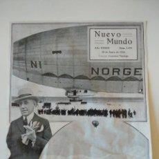 Coleccionismo de Revistas y Periódicos: HOJA REVISTA ORIGINAL 1926.ROALD AMUNDSEN EXPEDICION ARTICO, ZEPPELIN NORGE. Lote 166366606