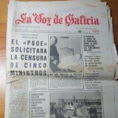 Coleccionismo de Revistas y Periódicos: LA VOZ DE GALICIA, 15 SEPTIEMBRE 1981, EDICIÓN PONTEVEDRA. Lote 166463518