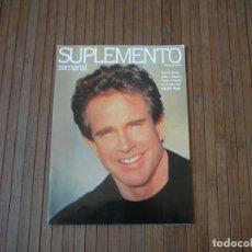 Coleccionismo de Revistas y Periódicos: SUPLEMENTO SEMANAL. MARZO 1992. WARREN BEATTY. Lote 166502034