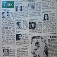 Coleccionismo de Revistas y Periódicos: NURIA ESPERT CAROLINA DE MONACO JULIO IGLESIAS FRANCO ANTONIO ORDOÑEZ. Lote 166625378