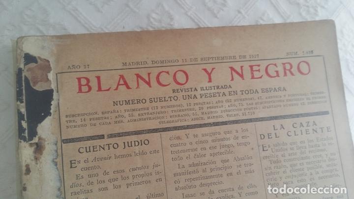 Coleccionismo de Revistas y Periódicos: Revista Blanco y Negro. Año 37. Madrid 11 de septiembre de 1927 - Foto 4 - 166682318