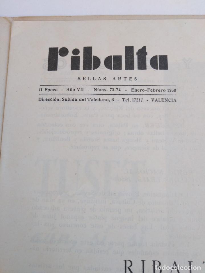 Coleccionismo de Revistas y Periódicos: Ribalta. Bellas Artes. Valencia - Foto 3 - 166723622