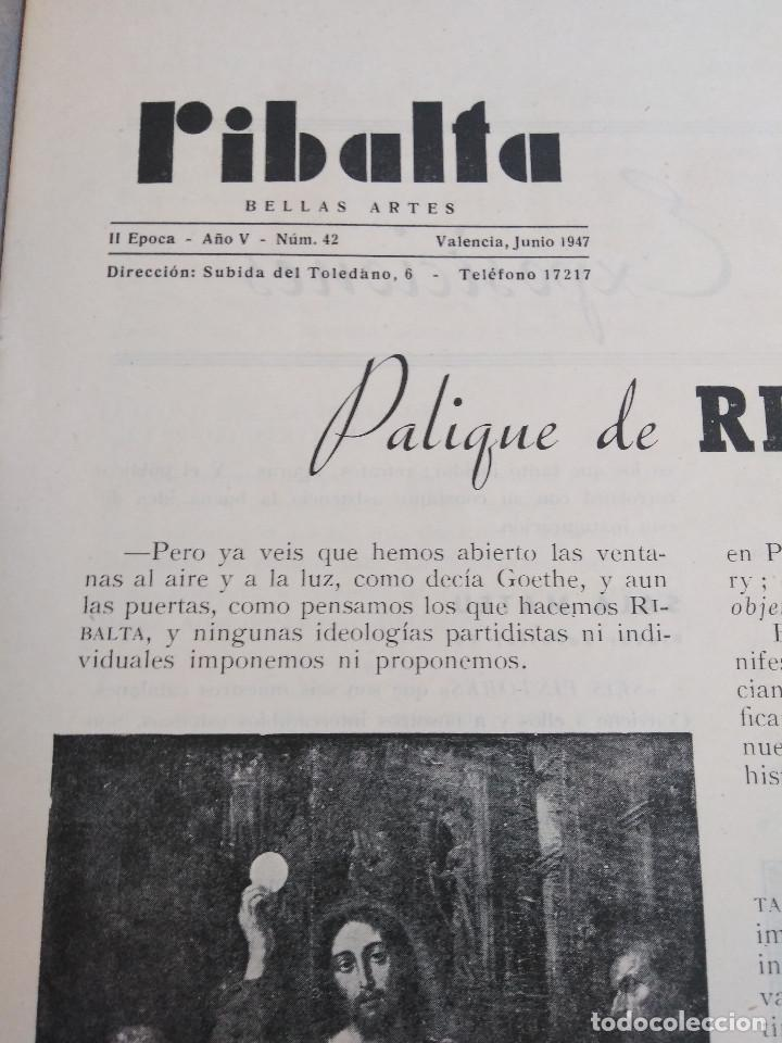 Coleccionismo de Revistas y Periódicos: Ribalta. Bellas Artes. Valencia - Foto 7 - 166723622