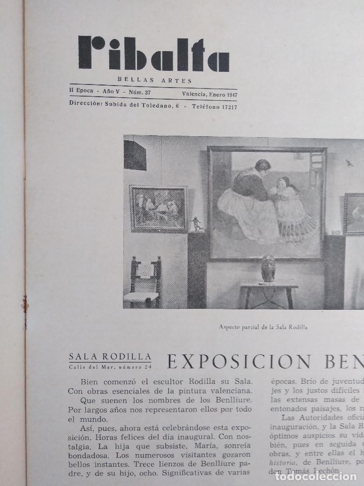 Coleccionismo de Revistas y Periódicos: Ribalta. Bellas Artes. Valencia - Foto 9 - 166723622
