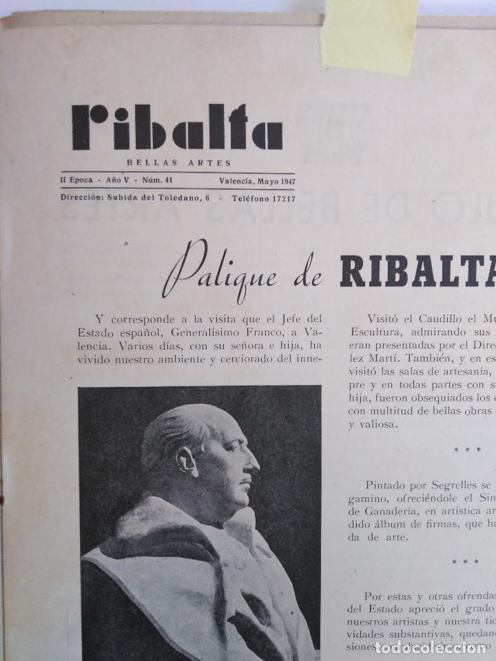 Coleccionismo de Revistas y Periódicos: Ribalta. Bellas Artes. Valencia - Foto 11 - 166723622