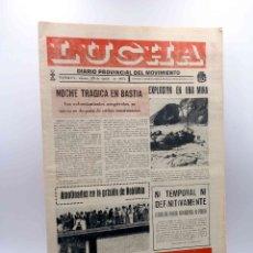 Coleccionismo de Revistas y Periódicos: LUCHA. DIARIO PROVINCIAL DEL MOVIMIENTO. TERUEL, 29 DE AGOSTO DE 1975 (VVAA) LUCHA, 1975. FALANGE. Lote 166802889
