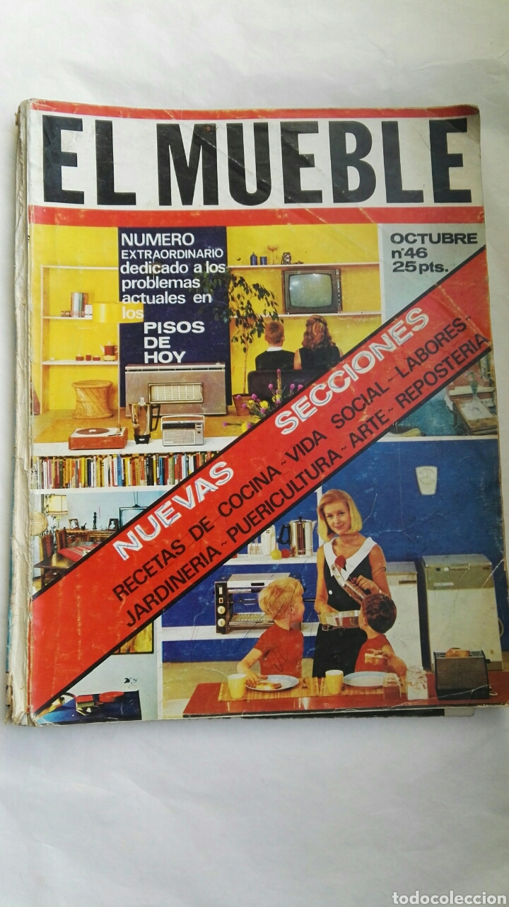 REVISTA EL MUEBLE OCTUBRE 1965 (Coleccionismo - Revistas y Periódicos Modernos (a partir de 1.940) - Otros)